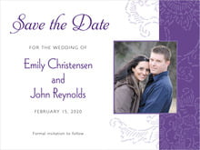 custom save-the-date cards - purple - persimmon flower (set of 10)