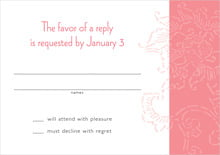 custom response cards - grapefruit - persimmon flower (set of 10)