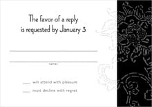 custom response cards - tuxedo - persimmon flower (set of 10)
