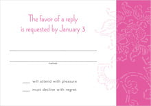 custom response cards - bright pink - persimmon flower (set of 10)