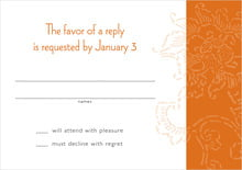 custom response cards - spice - persimmon flower (set of 10)