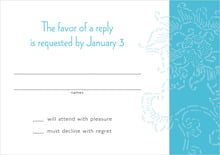 custom response cards - sky - persimmon flower (set of 10)