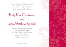 custom invitations - deep red - persimmon flower (set of 10)
