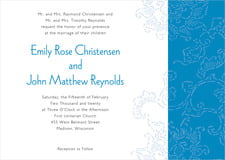 custom invitations - blue - persimmon flower (set of 10)