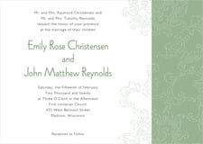 custom invitations - sage - persimmon flower (set of 10)