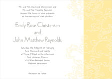 custom invitations - sunflower - persimmon flower (set of 10)