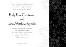 custom invitations - tuxedo - persimmon flower (set of 10)