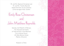 custom invitations - bright pink - persimmon flower (set of 10)