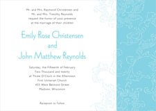 custom invitations - bahama blue - persimmon flower (set of 10)