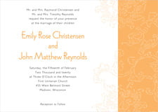 custom invitations - tangerine - persimmon flower (set of 10)
