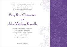 custom invitations - purple - persimmon flower (set of 10)
