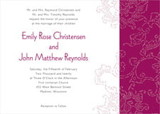 custom invitations - burgundy - persimmon flower (set of 10)