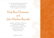 custom invitations - spice - persimmon flower (set of 10)