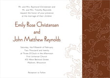 custom invitations - chocolate - persimmon flower (set of 10)