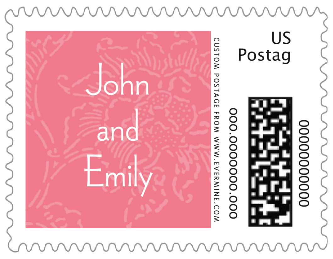 small custom postage stamps - grapefruit - persimmon flower (set of 20)