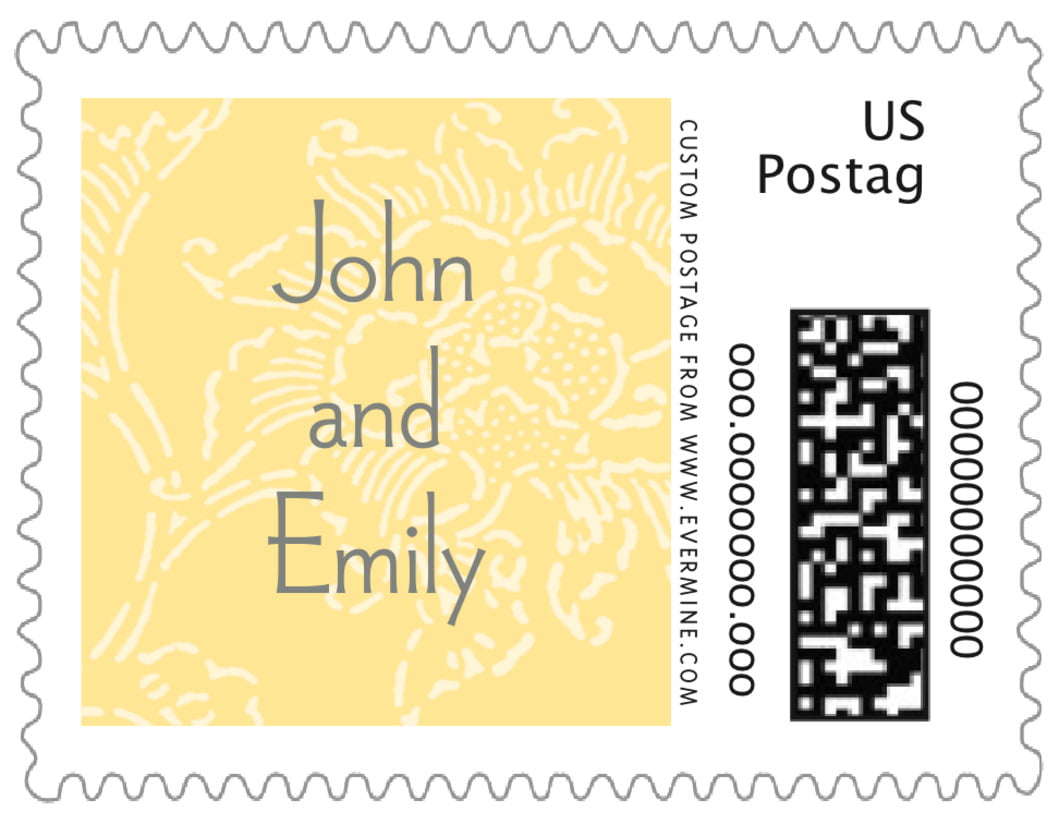 small custom postage stamps - sunflower - persimmon flower (set of 20)