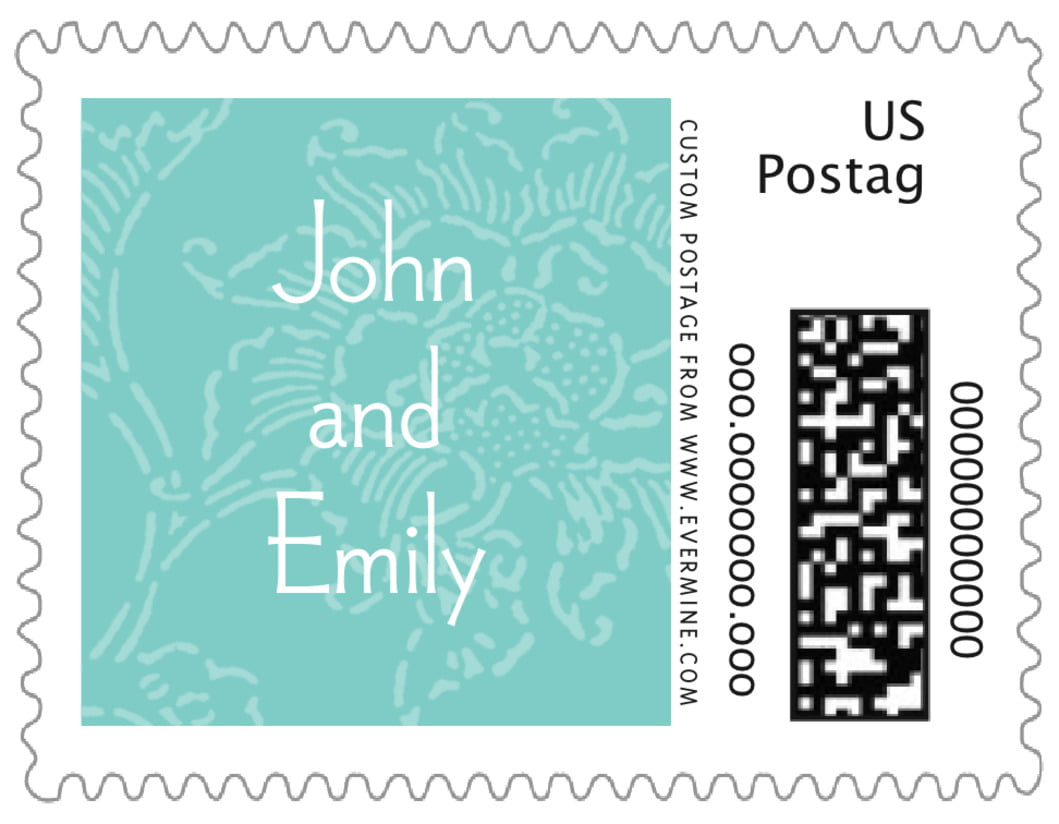 small custom postage stamps - aruba - persimmon flower (set of 20)