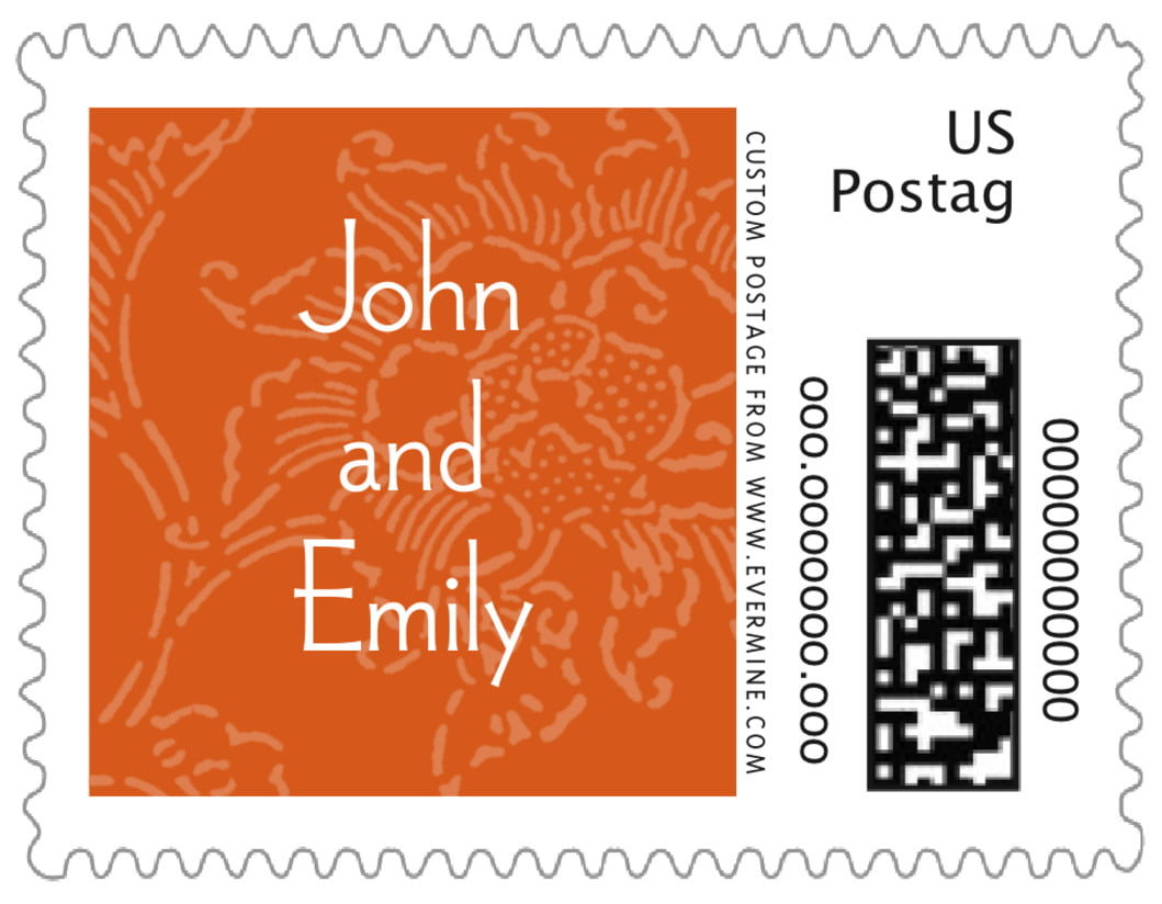 small custom postage stamps - spice - persimmon flower (set of 20)