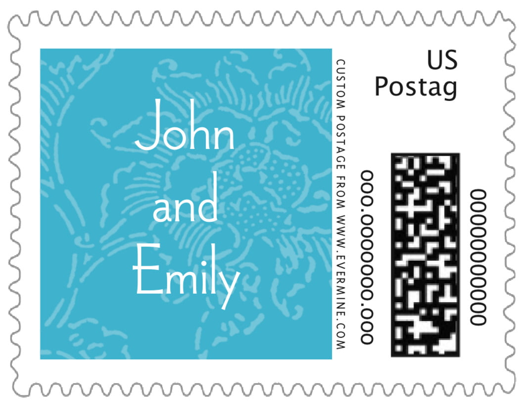 small custom postage stamps - sky - persimmon flower (set of 20)
