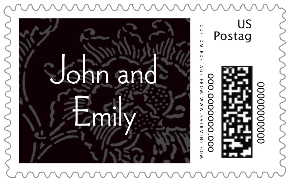 custom large postage stamps - tuxedo - persimmon flower (set of 20)