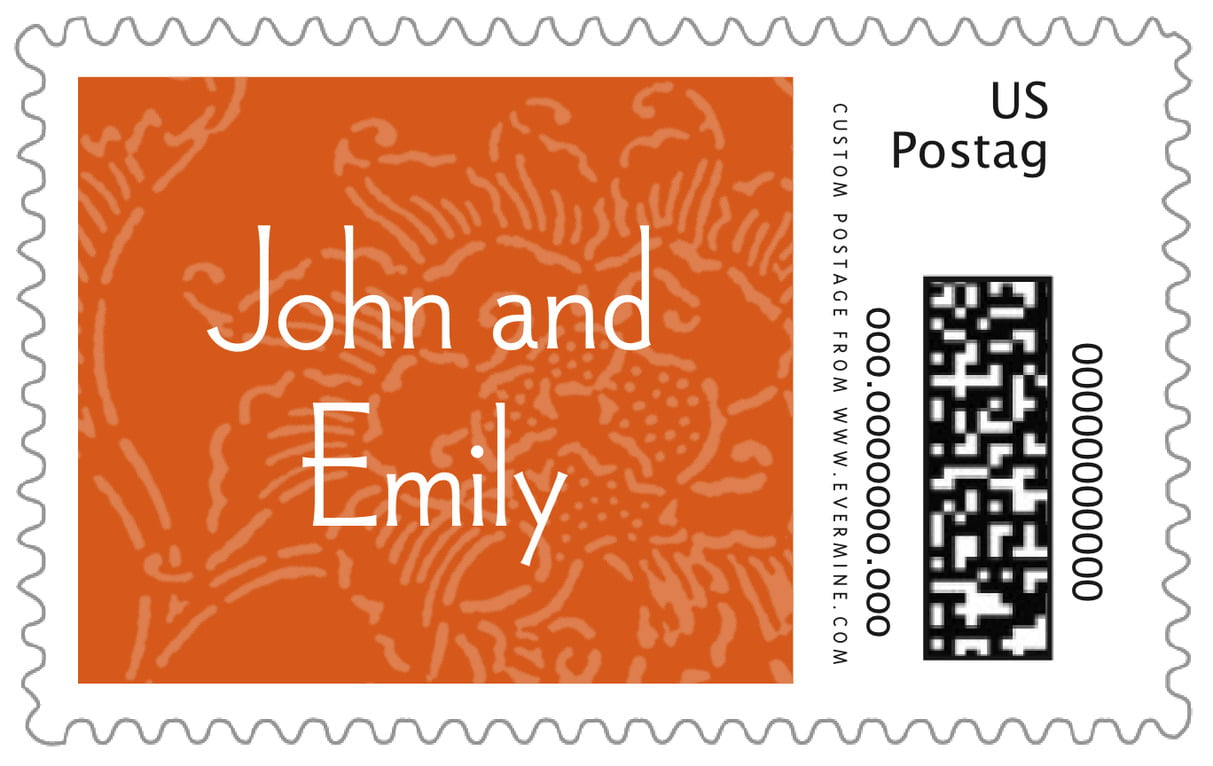 custom large postage stamps - spice - persimmon flower (set of 20)