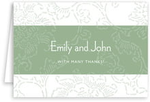 Persimmon Flower folding cards