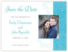 Persimmon Flower save the date cards