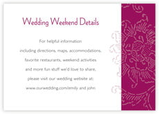 Persimmon Flower enclosure cards