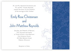 Persimmon Flower invitations
