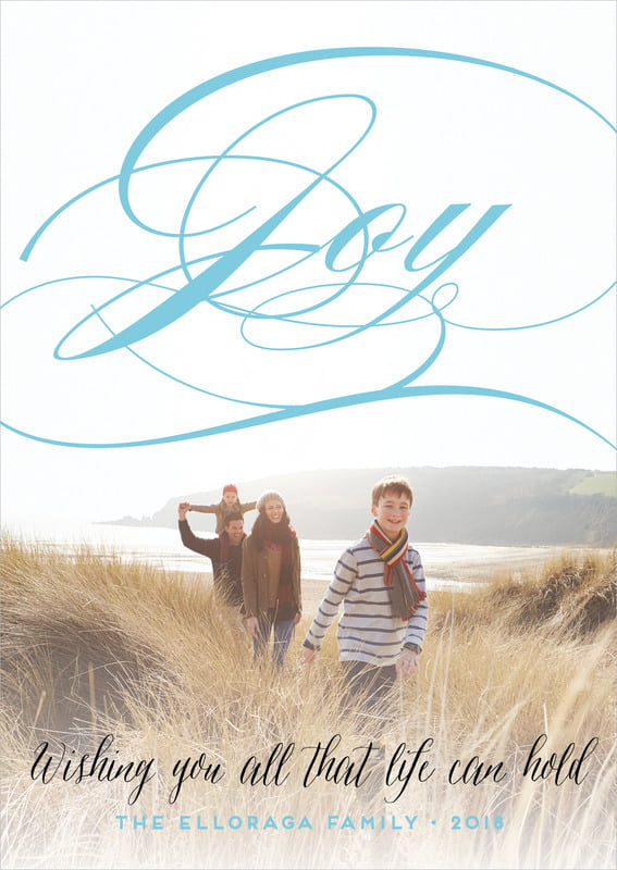 holiday cards - sky - scripted joy (set of 10)