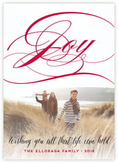 Scripted Joy Photo Cards - Vertical In Deep Red