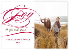 Scripted Joy photo cards - horizontal
