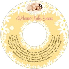 Dreaming Daisies baby shower CD/DVD labels