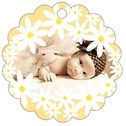 Dreaming Daisies baby shower tags