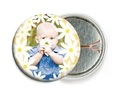Dreaming Daisies Pin Back Button In Sunburst