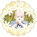 Dreaming Daisies baby birthday tags