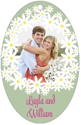 Dreaming Daisies large oval hang tags