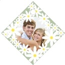 Dreaming Daisies small diamond hang tags