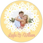 Dreaming Daisies large circle labels