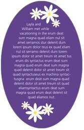 Dreaming Daisies oval text labels