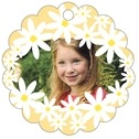 Dreaming Daisies Scallop Hang Tag In Sunburst