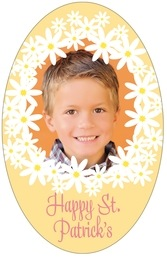 Dreaming Daisies tall oval labels