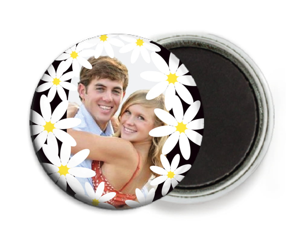 custom button magnets - tuxedo - dreaming daisies (set of 6)