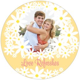Dreaming Daisies round coasters