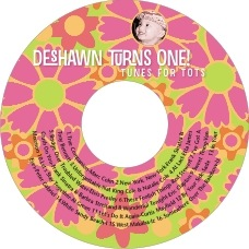 Posies birthday CD/DVD labels