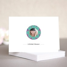 Posies bridal shower note cards
