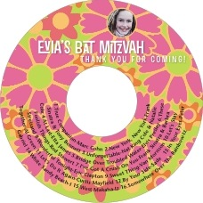 Posies Cd Label In Bright Pink