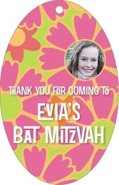 Posies bar/bat mitzvah tags