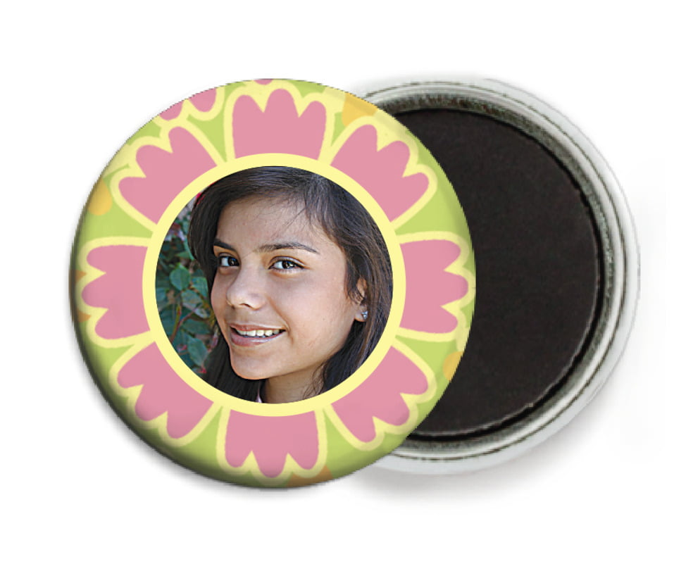 custom button magnets - grapefruit - posies (set of 6)