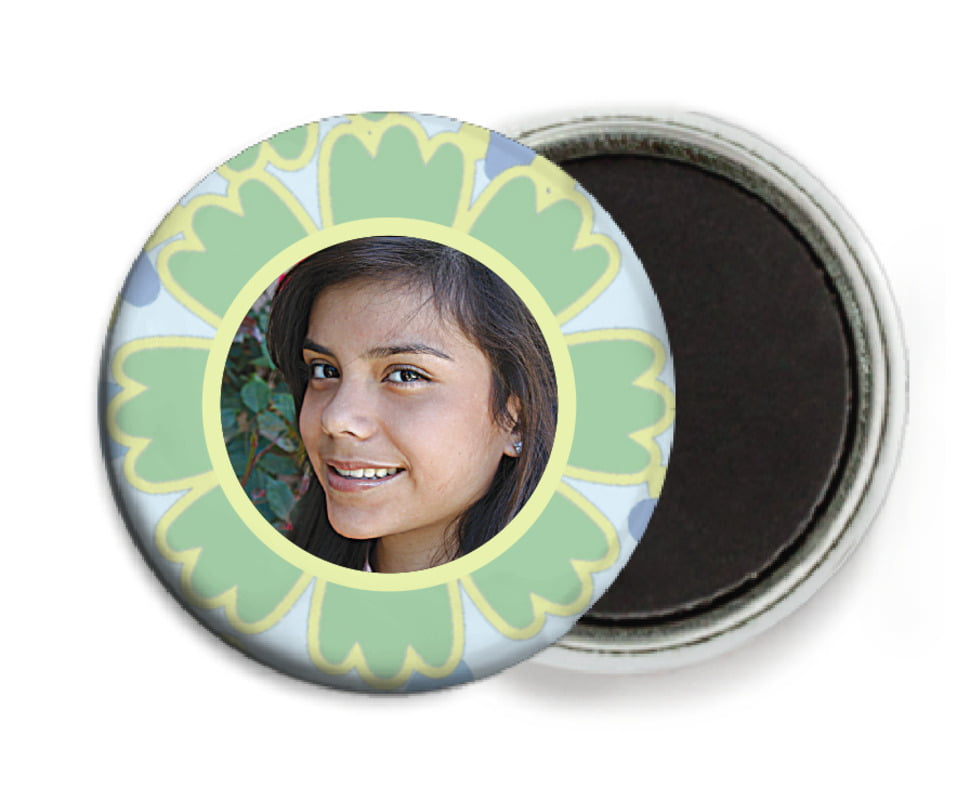 custom button magnets - sage - posies (set of 6)